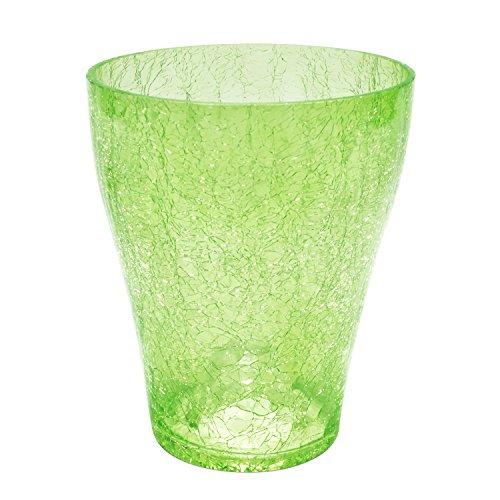 Polnix Cache Pot céramique Serie Orchid de Transparent Vert diametre 13.5 cm Hauteur 16.5 cm