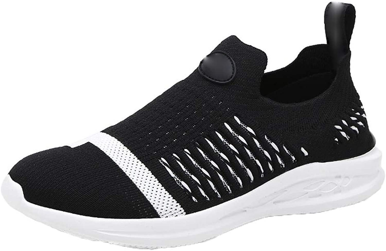 Outdoor Sneakers for Mens Men's Running shoes Outdoor Casual Wild Net Fashion Low Help Light Running shoes (color   Black, Size   41)