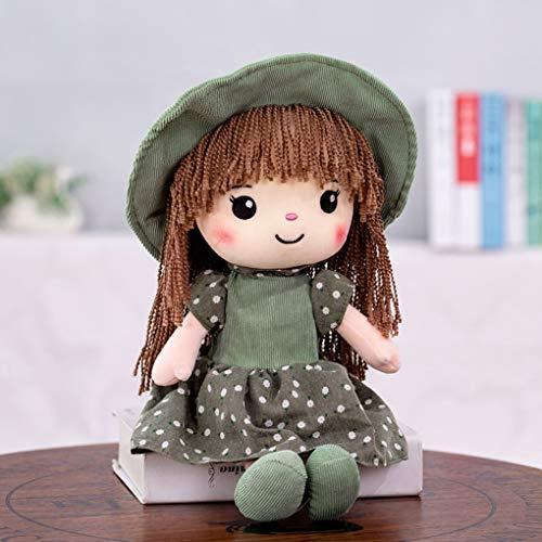 YJZQ - Bambola di peluche per ragazze e donne, simpatica bambola di straccio con cappuccio per bambine e ragazze, giocattolo per la cameretta dei bambini, 40 cm