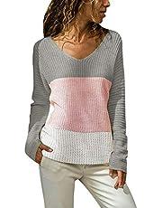 FRAUIT dames V-hals pullover patchwork dames slim gebreide trui mode elegant prachtig streetwear S-XL