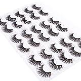 Wleec Beauty 3D Faux Mink False Lashes Handmade Dramatic Eyelash Pack Long Crisscross Fake Eyelashes #3D/18 (15 Pairs/3 Pack)
