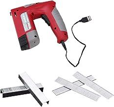 rongweiwang Clavadora eléctrica USB carpintería clavadora clavadora clavadora Tratamiento de la Madera Que enmarca portátil Recargable con Clavos