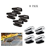 WeTest 8 PCS Deer Whistles Deer Warning Devices for Cars & Motorcycles, with Extra Bases, (Black/Silver) (LJ-JSL-112806)