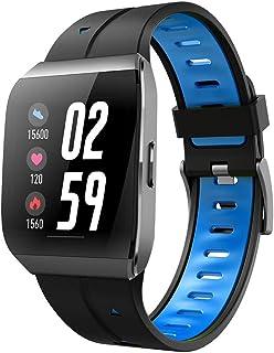 YZY Reloj Inteligente de la versión 2019, Pulsera Actividad con Monitor de Ritmo cardíaco y sueño Rastreador de Actividad a Prueba de Agua con Reloj podómetro para Hombres Mujer