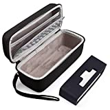 Hard Case Fits for Bose SoundLink Mini/Mini 2 Bluetooth Speaker with Soft Silicone Cover Mesh Pocket for Accessories, Black