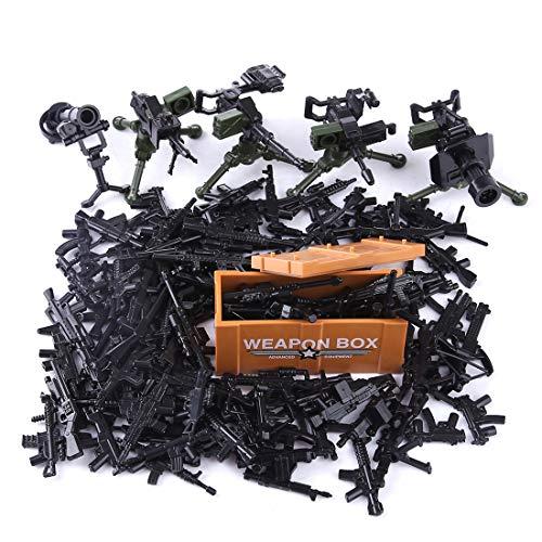PARIO Custom Waffen Set für Soldaten Mini Figuren SWAT Team Polizei, kompatibel mit Lego