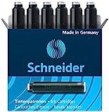 Schneider Fountain Pen Ink Cartridge, Box of 6, Black (06601)