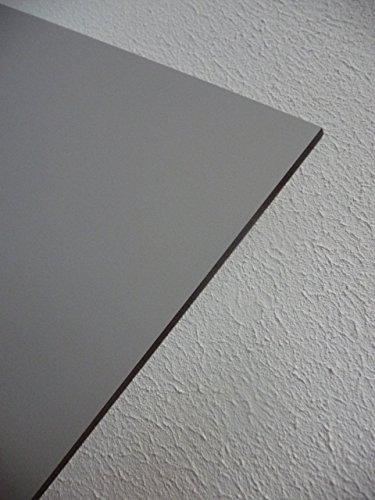 alt-intech Fassadenplatte Balkonplatte HPL Verschiedene Größen und Farben + Zubehör (1000 x 500 x 6 mm, Stein grau)