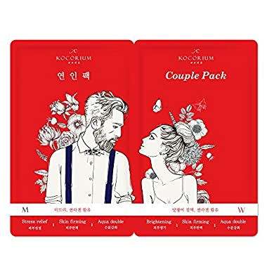KOCORIUM Facial Moisturizing Mask Sheets (Couple Mask Pack(4set/box))