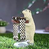 Présentoir à montres, support de bague en résine, statue d'ours polaire, support de rangement pour montres, bijoux, collier