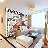 ZJFHL Wandtuch tapete Geige Fototapete 3D straße graffiti kunst mural wohnzimmer esszimmer wand dekoration wandbild 140CMx100CM