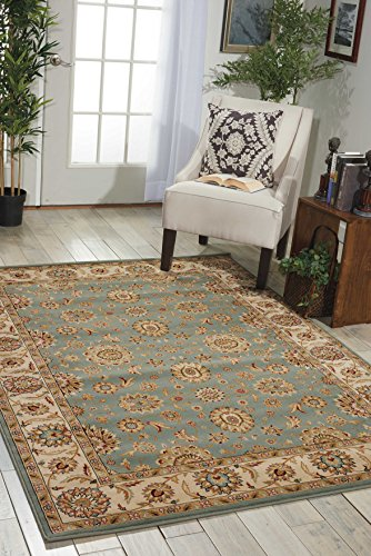 Nourison Persian Crown Blu Rectangle Area Rug, 9-Feet 3-Inches by 12-Feet 9-Inches (9'3' x 12'9')