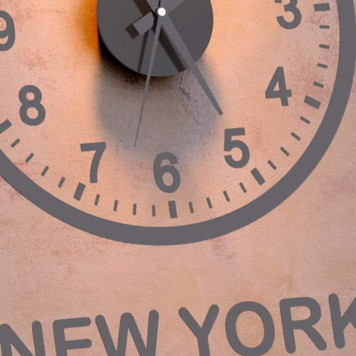 Balvi - World Clock Reloj de Pared. Incluye Tres Relojes y Tres vinilos. London-Paris-New York. Funciona con 3 Pilas AA.