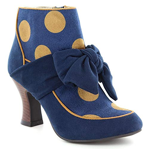 Ruby Shoo Seren Navy Blue Vintage Style Boots UK 7