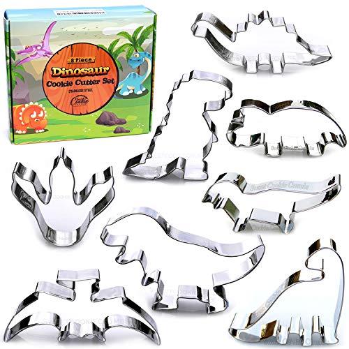 Dinosaur Cookie Cutter Set 8 Piece Stainless Steel
