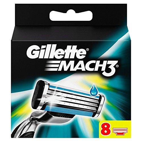 Gillette Mach3 - Cuchillas de recambio para maquinilla de afeitar, 8 unidades