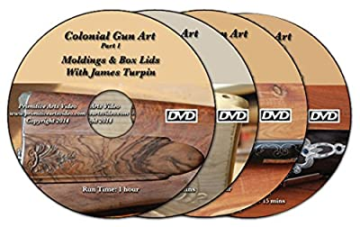 Colonial Gun Art with James Turpin: Moldings & Box Lids, Stock Carving, Wire Inlay, Engraving (4 DVDs)