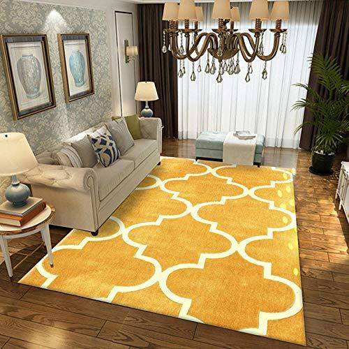 Geometrische moderne tapijt voor woonkamer Slaapkamer Slaapbank Koffie Studie Anti-Slip Tapijten Showcase tapijten Huishoudelijke tapijt 160cmX230cm Geel