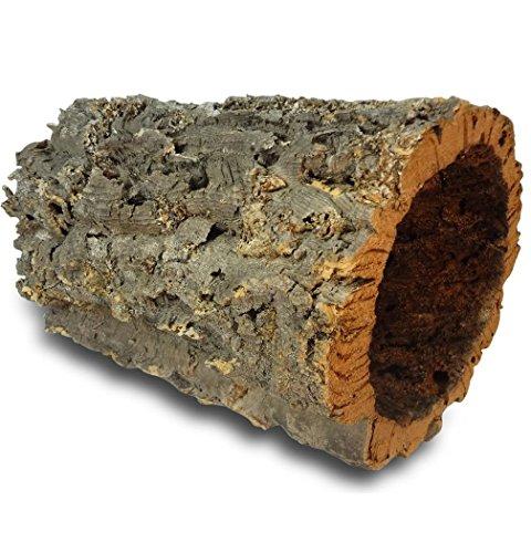 Kork-Deko Korkrinde | Korkröhre | Korktunnel | Baumstammtunnel | gereinigt & desinfiziert ca. 30 cm lang , Ø = 15-20 cm (Innen-Durchmesser)