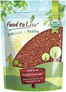 Organic Brown Flax Seeds, 2.5 Pounds — Whole Flaxseeds, Non-GMO, Kosher, Raw, Dried, Sproutable, Bulk