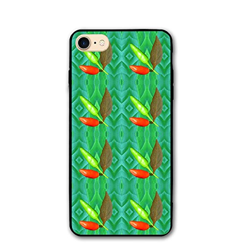 4.7 Inch Iphone 8 Case Red Green Hot Pepper Painting Anti-Scratch Shock Proof Hard PC Protective Case Cover