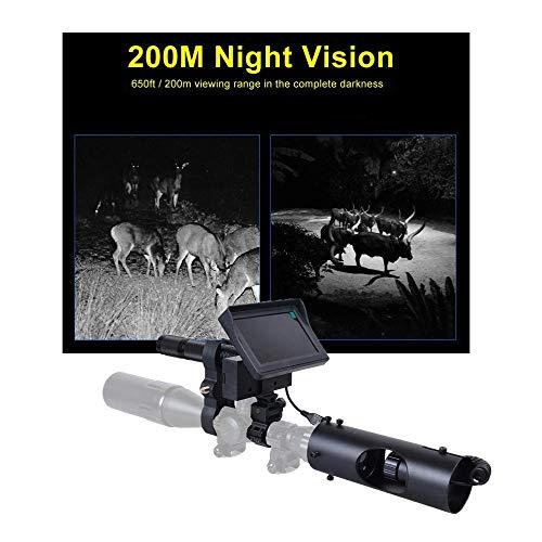 GBBG Nachtsichtgerät Jagdkamera für Zielfernrohr Airsoft Jagdfernrohre Visier LED IR Nachtsichtgerät Jagdgerät