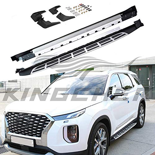 etesan Running Board Fit for Hyundai Palisade 2019 2020 2021 Nerf Bar Side Step with Mudguards