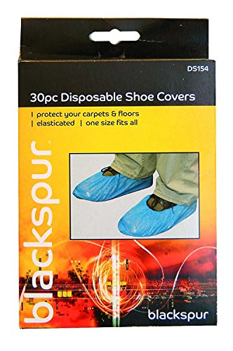 Blackspur Bb-ds154 jetables à Chaussures avec Housse de, Noir, 3-Pack