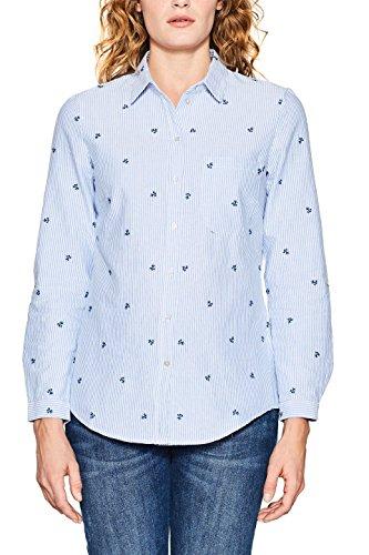 ESPRIT Damen 018EE1F008 Bluse, 440/LIGHT Blue, 36