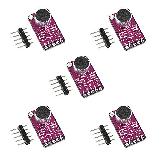 ALMOCN 5pcs MAX9814 Electret amplificador de micrófono con control de ganancia automático para Arduino