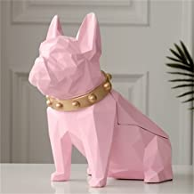 SMEJS Hond Beeldje Hars Zwarte Hond Tissue Houder Craft Voor Keuken Kamer Tafel Top Home Decor Moderne Creatieve Geometris...