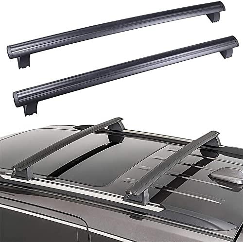 Portapacchi per Tetto Auto - Supporto Rack per Jeep Grand Cherokee 2011-2020, Regolabile e Costante con Cinghie di Fissaggio
