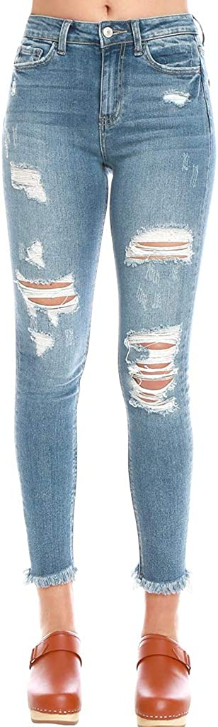 VERVET Al Max 59% OFF sold out. Distressed Skinny Blue High-Rise Jeans