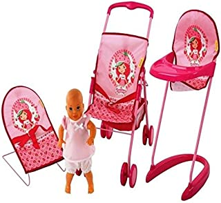 Hauck Toys Strawberry Shortcake Doll Accessories Set, 3 Years Plus, 997219, 4 Pieces