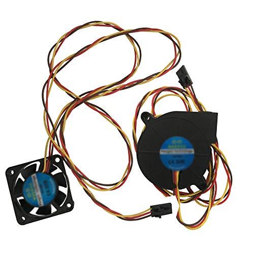 2 ventole DC a 3 fili, kit ventola di raffreddamento 5V DC 4010 5015 Radiatore hotend estrusore sinistro, ventola hotend anteriore per stampante 3D Prusa i3 MK3 MK3S MK2 / 2.5