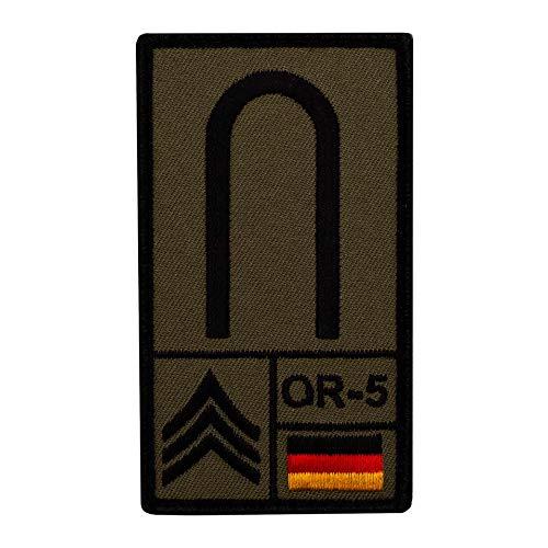 Café Viereck ® Unteroffizier Bundeswehr Rank Patch mit Dienstgrad - Gestickt mit Klett – 9,8 cm x 5,6 cm