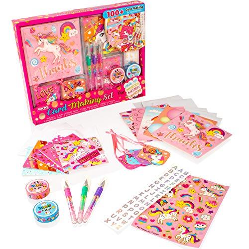 Art Girlz Unicorn Card Making Set - Kinder Kunst und Kunsthandwerk Kit für Mädchen