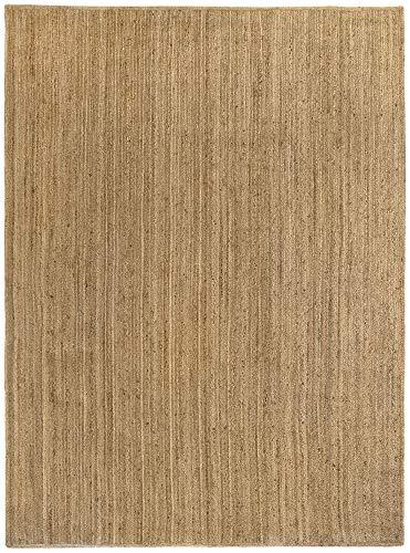 HAMID Alfombra Yute Alhambra Color Natural - Alfombra 100% Fibra de Yute (250x300cm)