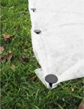 GARDENIX 100 Stück Erdanker Bodenanker Erdnägel für Gartenvlies Unkrautvlies Maulwurfnetz Allzweckplane - 2