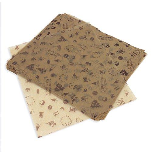 PsmGoods® 100 PCS Wachs Papier für Kuchen Brot Wrapper-Antihaft (Chocolate Type)