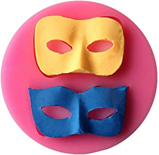 Yunko 3d Masks Soft Silicone Cake Decoration Mould Fondant Jelly Candy Chocolate Mold Soap Candle Mold Halloween Party Supply