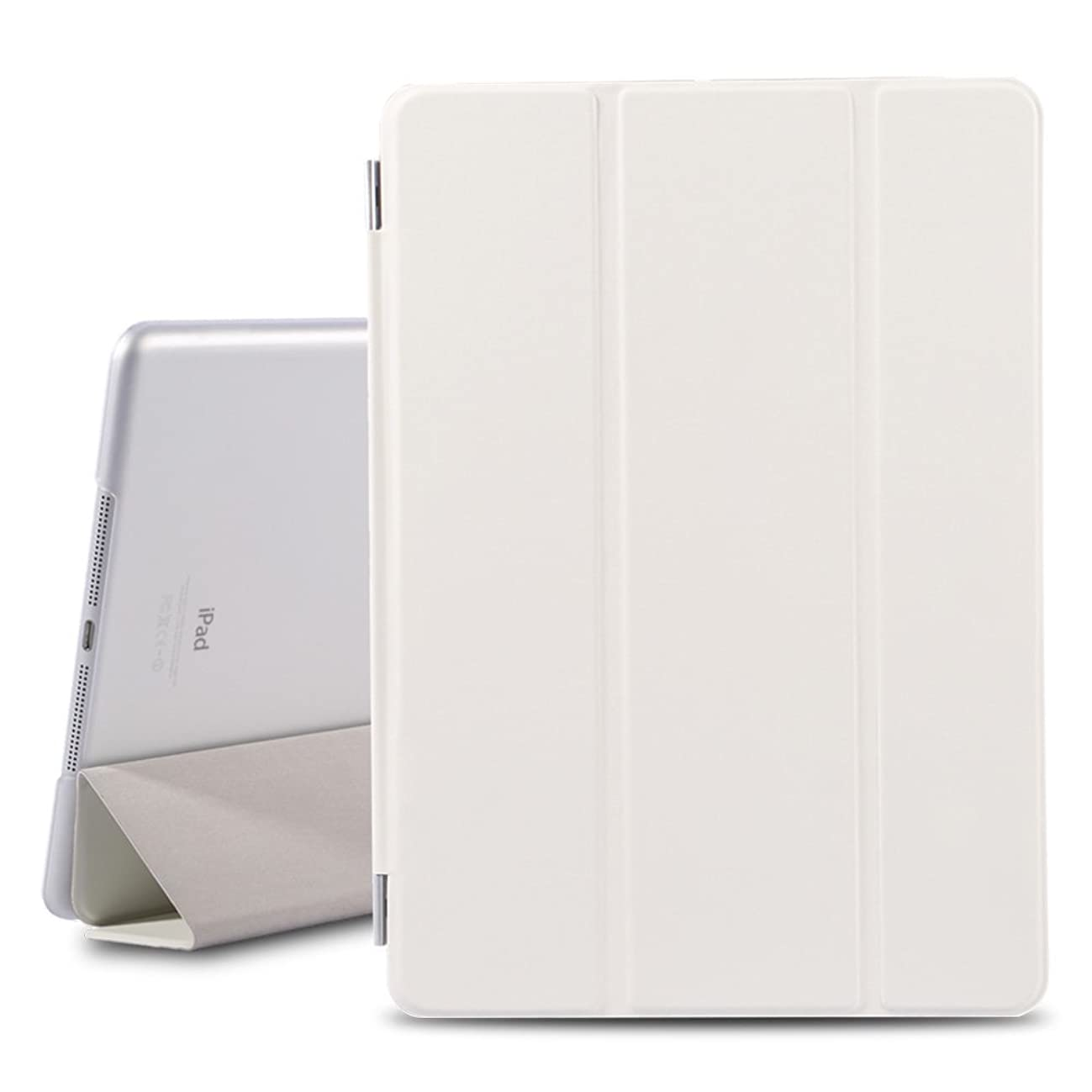 iPad Air Case, iPad 5 Cover, Slim Fit Leather Protect Case Cover for Apple iPad Air (iPad 5th Generation) with Automatic Wake-up / Sleep Function - White