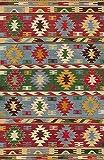 Vilber Kilim.2578 DU 01 Alfombra, Vinilo, Multicolor, 78 X 120