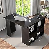 Taloit Escritorio esquinero para ordenador, escritorio con gran espacio de almacenamiento, mesa para ordenador portátil, para casa, oficina, color negro