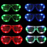 Gafas de plástico con LEDs, para fiestas, Navidad, Halloween, cumpleaños, unisex, de MuLucky, Set of 8