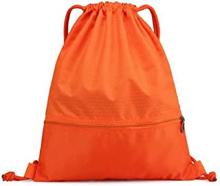 KSR Waterproof Drawstring Backpack - Gym Sackpack Sports Bag Travel Daypack with Pockets, Perfect for Sports, Travel