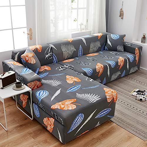 Funda de sofá seccional en Forma de L de Esquina para Sala de Estar Funda de sofá geométrica Fundas de sofá elásticas elásticas A10 4 plazas