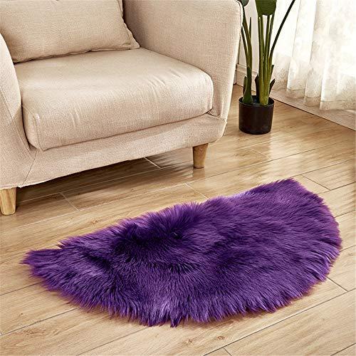 DHHY Halbrund Teppich Plüsch Teppich Home Wohnzimmer Dekoration Schlafzimmer Erker Tür Matte K 90X180 cm