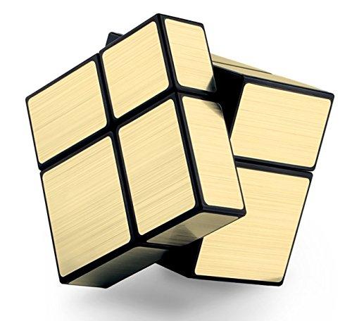 Level25 Cubo 2x2x2 Mirror, Cube 2x2, Dorado, Regalo Original