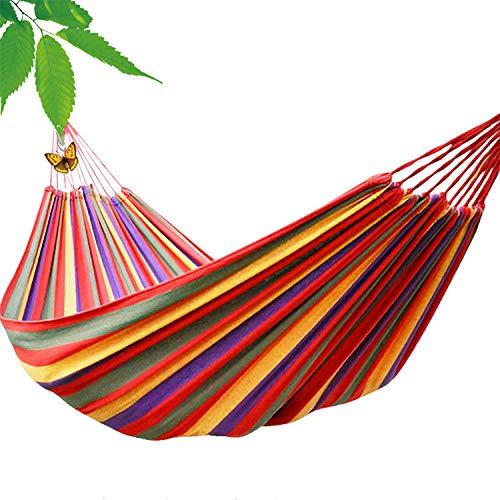 Hehilark Silla Colgante Hamaca, Hamaca Lienzo al Aire Libre Camping Estudiante Dormitorio Dormitorio hogar Silla Colgante Columpio-Rojo Solo (190 * 80)
